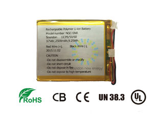 China 3.6V 2500mAh NMC Battery For 3C Digital Product With Steady Performance factory