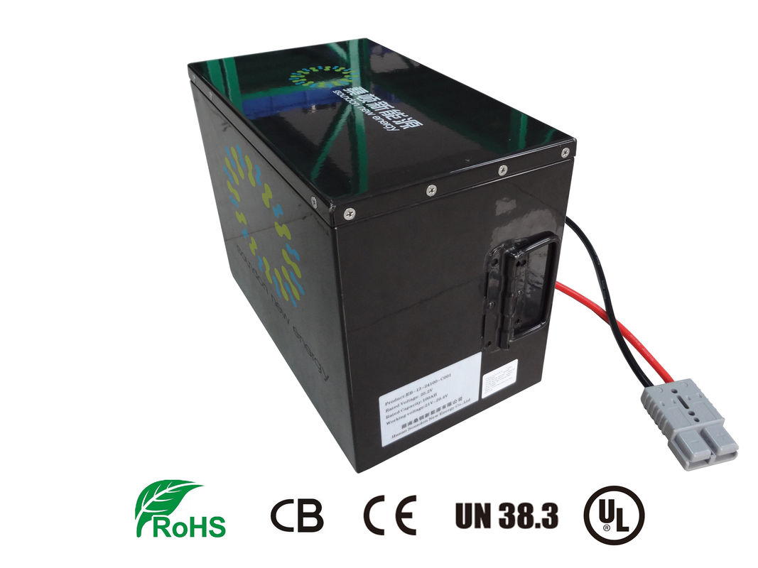 China Battery Powered Vehicles / Golf Cart Batteries lifepo4 24V 100Ah Large Cpacity factory