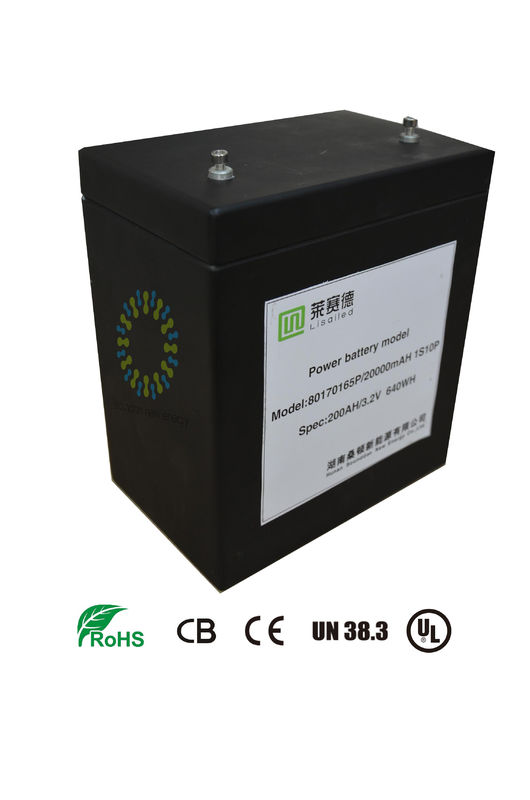 3.2V 200Ah Lifepo4 Lithium Battery For Pure Electric Car / Hybrid Car MSDS CE UN38.3