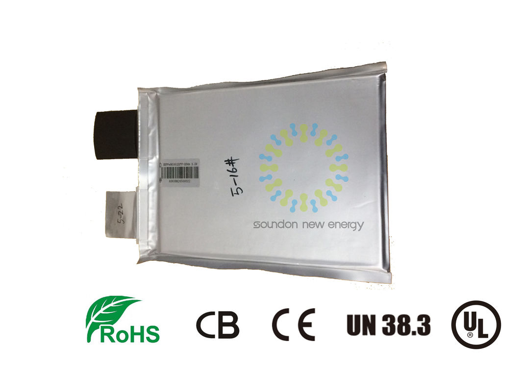 China 3.2v Lithium Rechargeable Battery 25ah , Household Energy System Lifepo4 Prismatic Cells factory